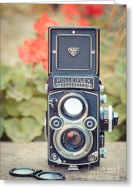 Old Vintage Camera Greeting Card by Sabino Parente