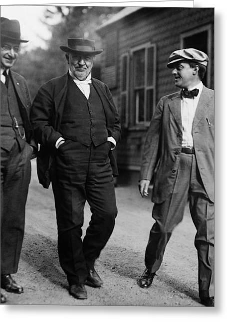 Thomas Edison (1847-1931) Greeting Card by Granger