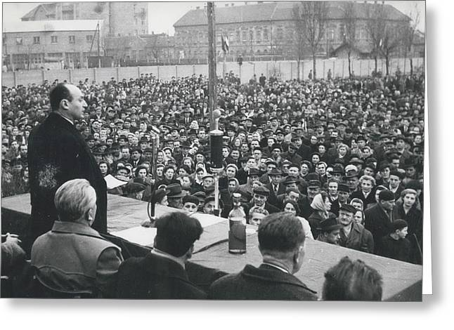 Hungary's Minister Bela Biszku Greeting Card by Retro Images Archive