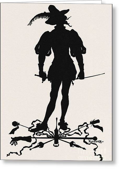 A Silhouette Illustration For Midsummer Night Dream By Shakespea Greeting Card by Indian Summer