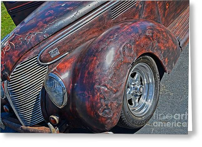 39 Ford Pick Up Rusty Relic  Greeting Card