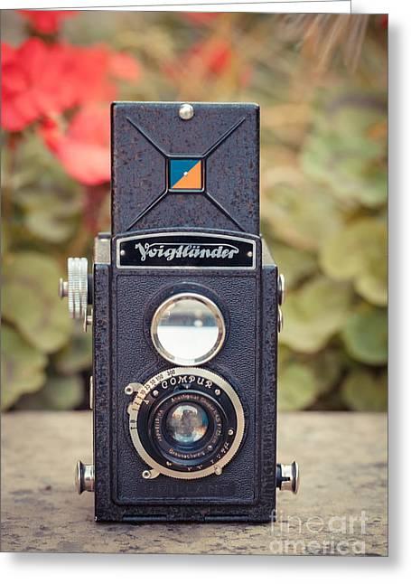 Old Vintage Camera Greeting Card
