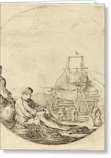 Stefano Della Bella Italian, 1610 - 1664 Greeting Card