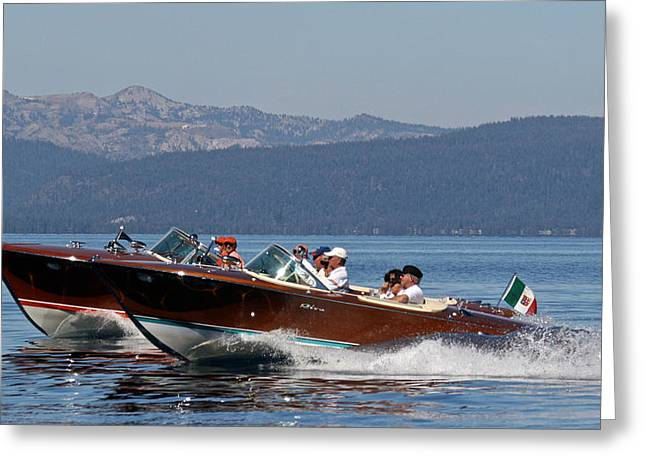 Tahoe Concours D' Elegance Greeting Card by Steven Lapkin