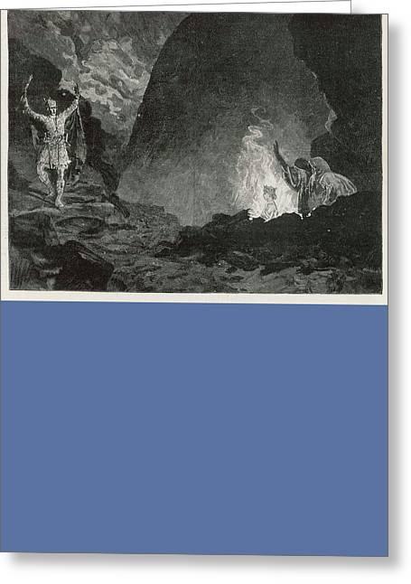 White Gypsum Dunes Greeting Card