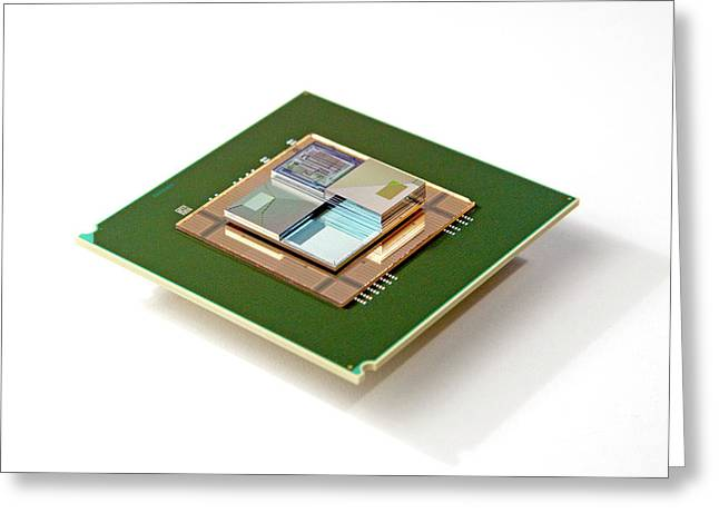 3d Chip Stack Greeting Card by Ibm Research