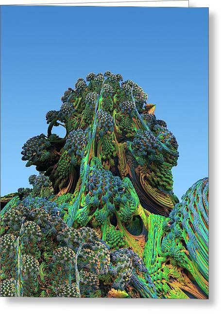 3d Fractal Landscape Greeting Card by David Parker