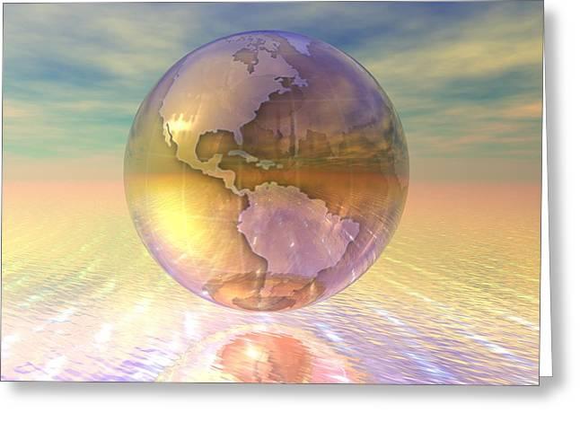 3d Globe Greeting Card by Design Pics Eye Traveller