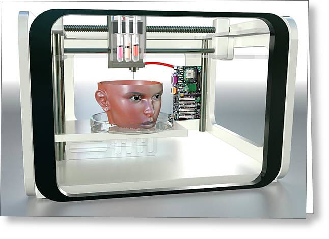 3d Printed Face Greeting Card by Christian Darkin