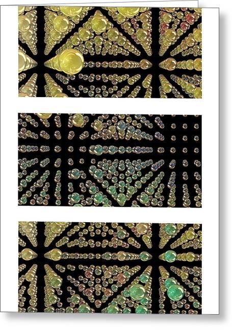 3d Spheres Greeting Card by Susan Leggett
