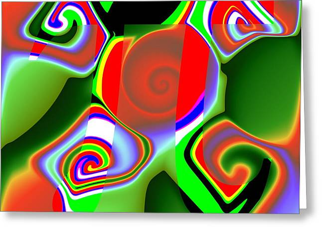 3Pi Greeting Card by Ron Hedges