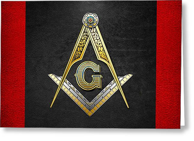 3rd Degree Mason - Master Mason Masonic Jewel  Greeting Card by Serge Averbukh