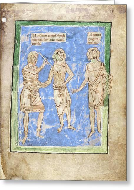 12th Century Medical Manuscript Greeting Card