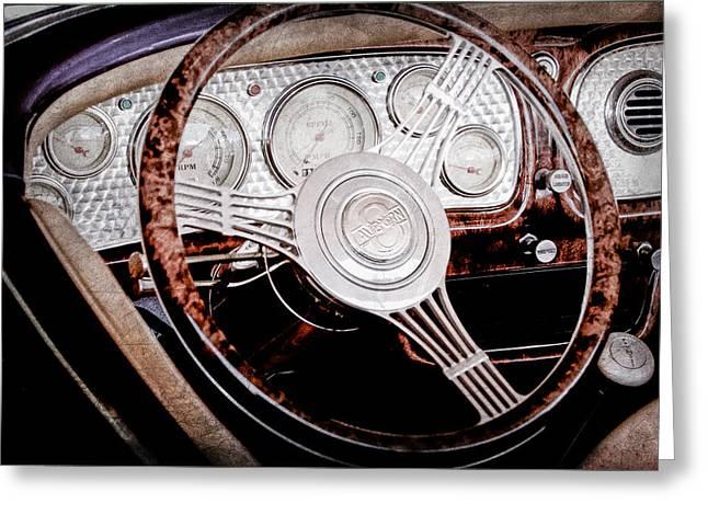 1936 Auburn Speedster Replica Steering Wheel Greeting Card