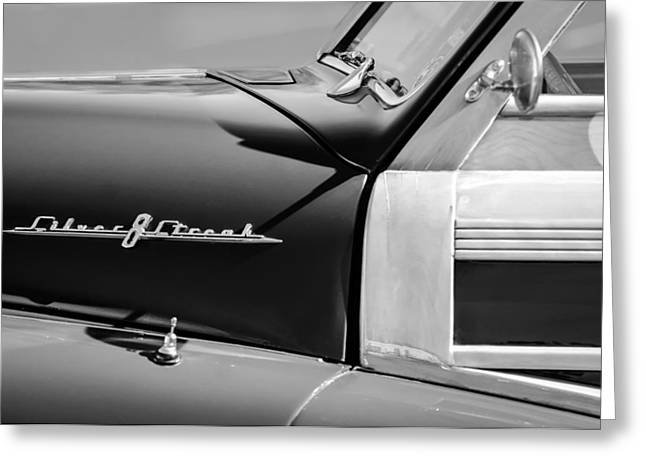 1948 Pontiac Streamliner Woodie Station Wagon Emblem Greeting Card by Jill Reger