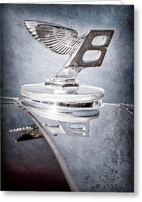 1950 Bentley Mk Vi Sports Saloon Hood Ornament Greeting Card by Jill Reger