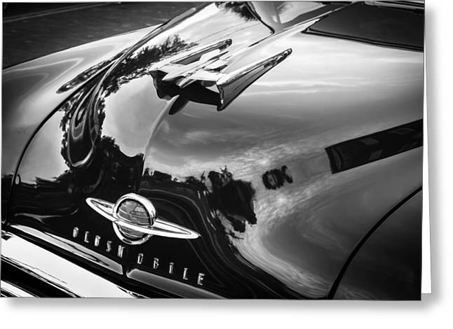 1950 Oldsmobile 88 Futurmatic Coupe Bw  Greeting Card by Rich Franco