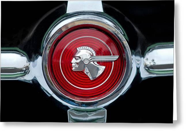 1951 Pontiac Streamliner Grille Emblem Greeting Card