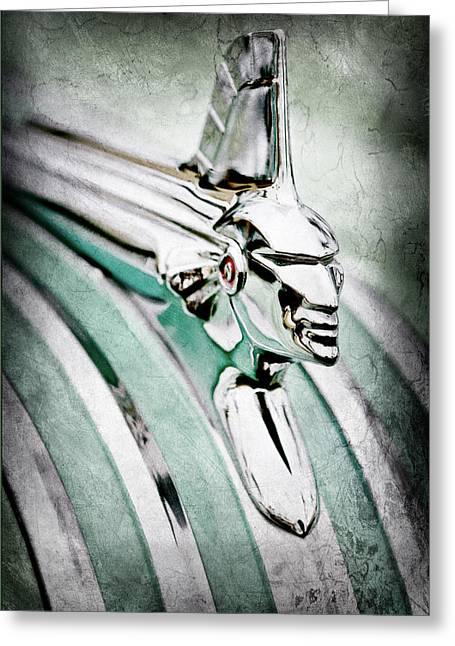 1951 Pontiac Streamliner Hood Ornament Greeting Card