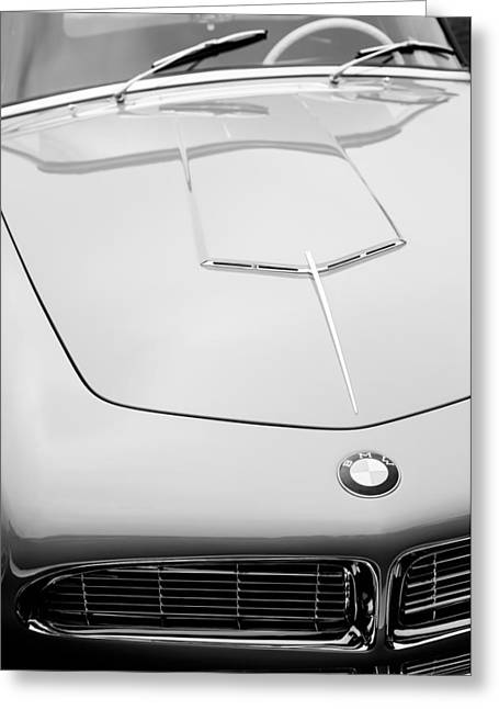 1958 Bmw 507 Series II Roadster Hood Emblem Greeting Card