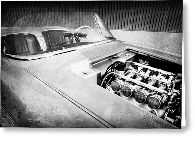 1960 Chevrolet Corvette Custom Engine Greeting Card by Jill Reger