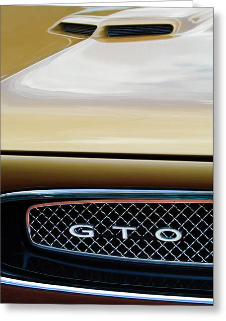 1967 Pontiac Gto Grille Emblem Greeting Card by Jill Reger