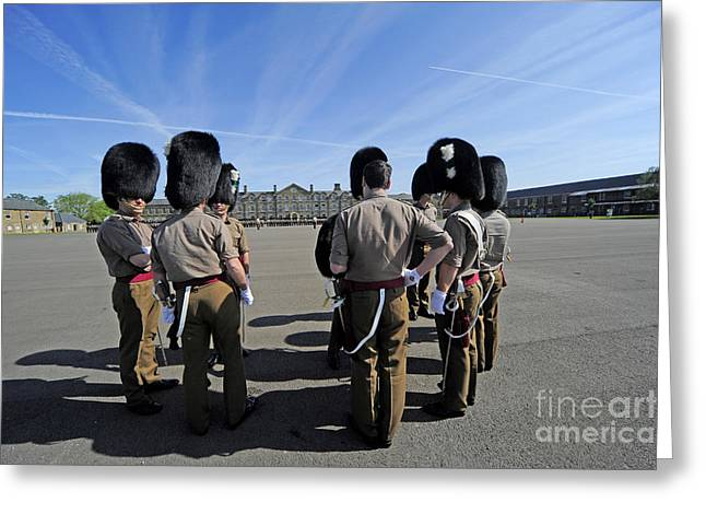 1st Battalion Welsh Guards On The Drill Greeting Card by Andrew Chittock