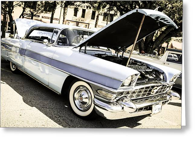 56 Packard Greeting Card by Chris Smith