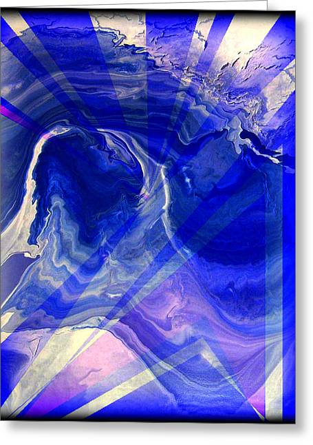 Abstract 36 Greeting Card by J D Owen