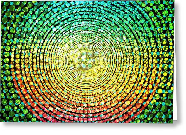 Abstract Dot Greeting Card
