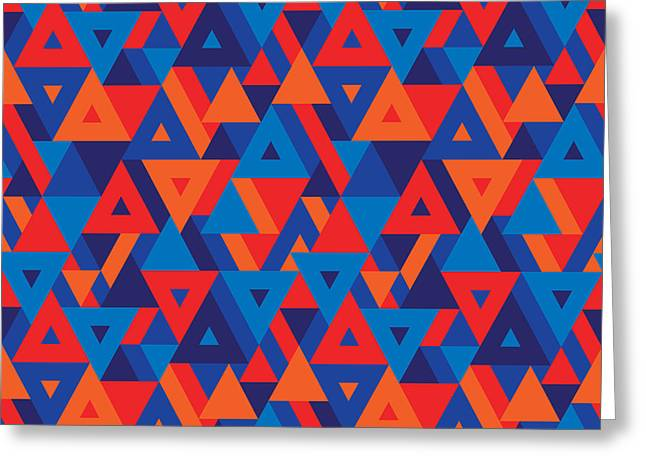 Abstract Geometric Background - Greeting Card by Sergey Korkin