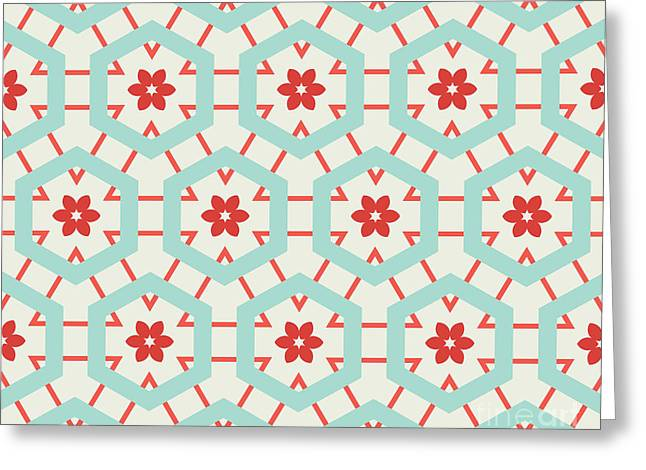 Abstract Retro Pattern. Vector Greeting Card