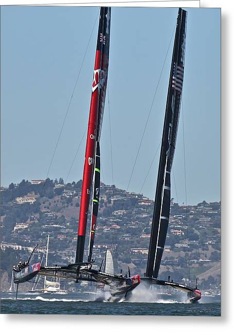 Americas Cup Campaigners Greeting Card