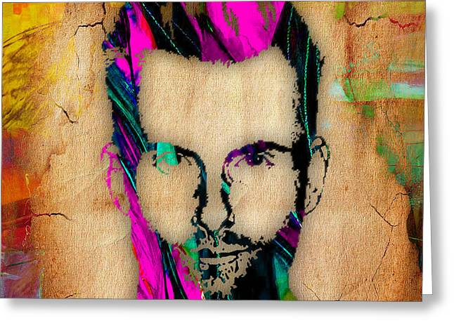 Adam Levine Greeting Card