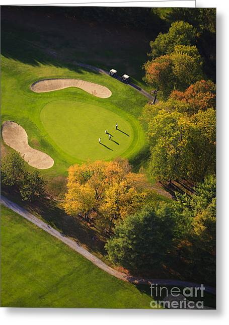 Aerial Image Of A Golf Course. Greeting Card