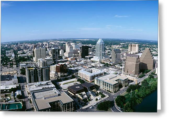 Aerial View Of A City, Austin, Travis Greeting Card by Panoramic Images