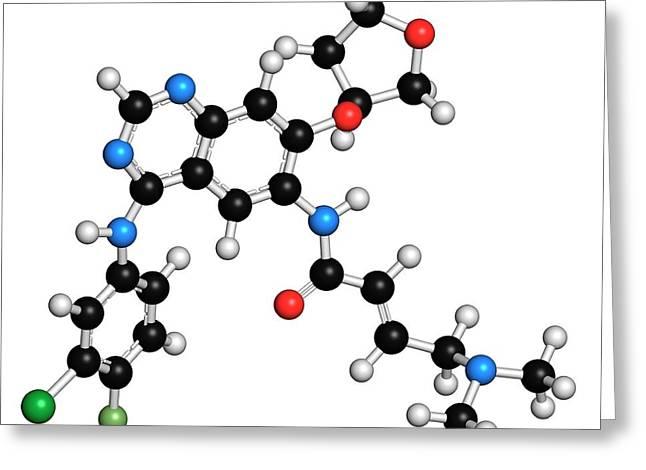 Afatinib Cancer Drug Molecule Greeting Card by Molekuul