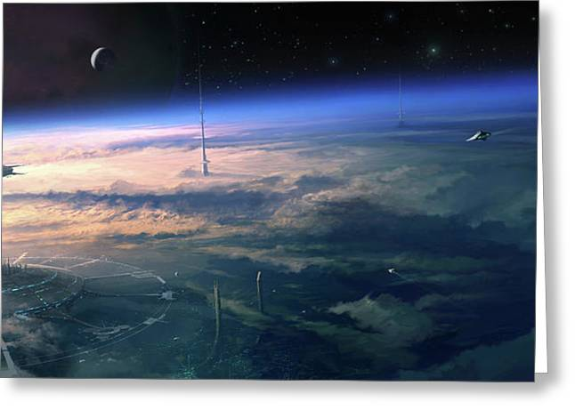 Alien Civilisation Greeting Card by Gary Tonge / Science Photo Library
