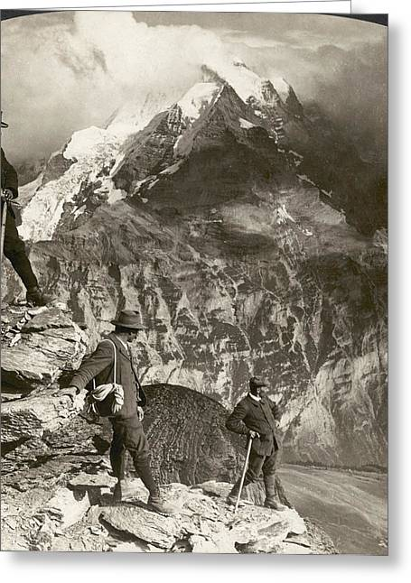 Alpine Mountaineering, 1908 Greeting Card by Granger