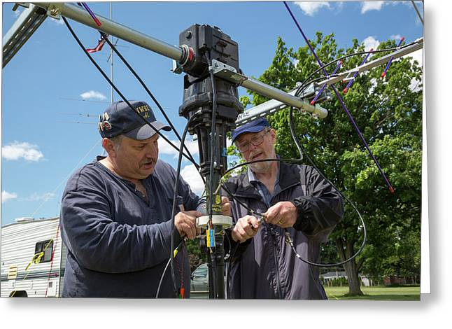 Amateur Radio Operators Greeting Card by Jim West