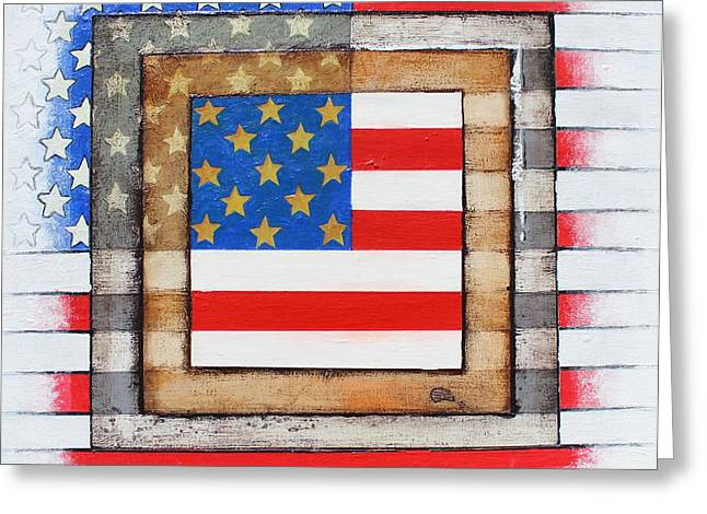 American Flag Greeting Card by Steve  Hester