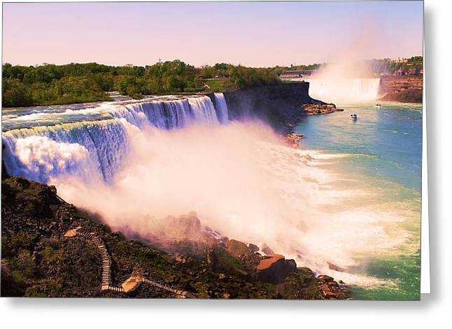 American Niagara Falls Greeting Card by Richard Jenkins