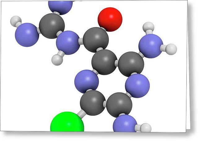 Amiloride Diuretic Drug Molecule Greeting Card by Molekuul
