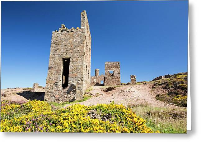 An Old Abandoned Tin Mine Greeting Card
