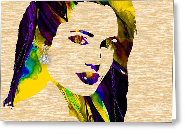 Angelina Jolie Collection Greeting Card