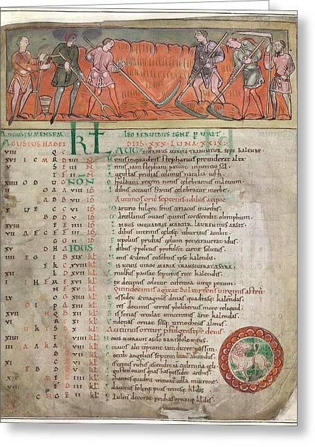 Anglo-saxon Calendar Greeting Card