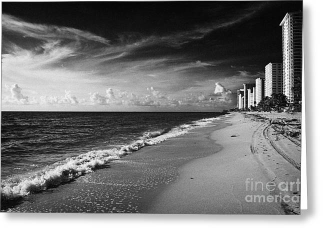 Apartments Hotels And Beachfront Developments Fort Lauderdale Beach Florida Usa Greeting Card