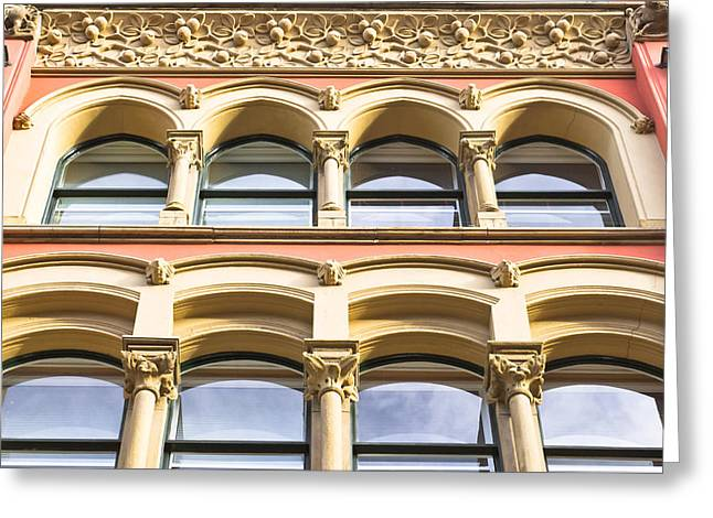 Arch Windows Greeting Card by Tom Gowanlock