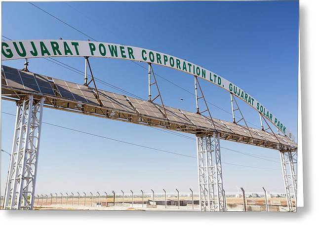 Asia's Largest Solar Power Station Greeting Card