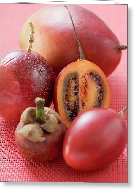 Assorted Exotic Fruits Greeting Card